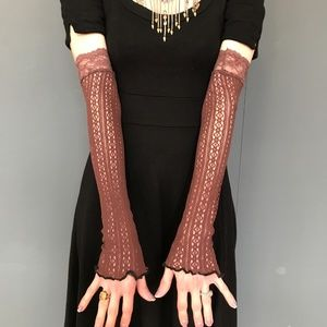 Trixy Xchange Brown Lace Arm Warmers